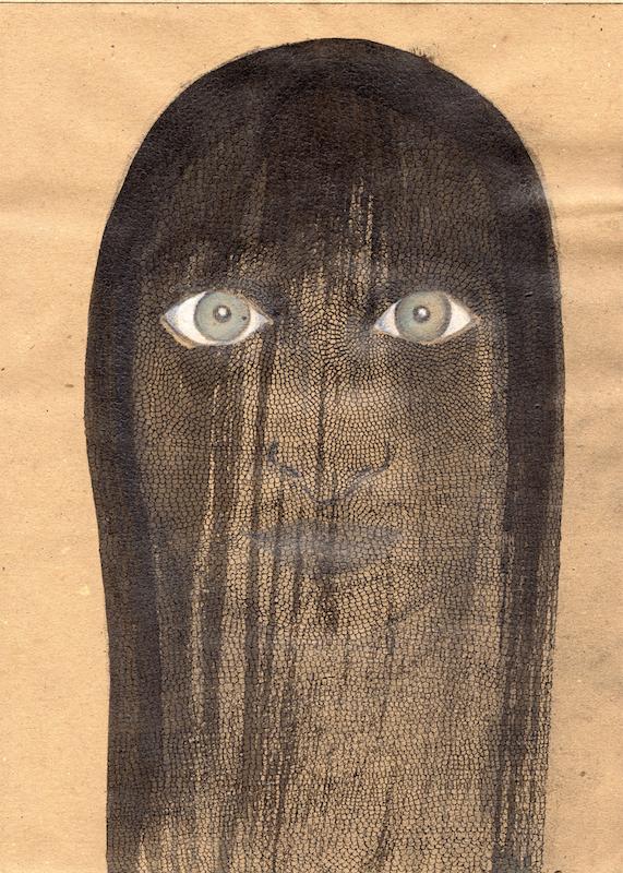 VELADA III, 2015. Tinta, pastel y grafito sobre papel.