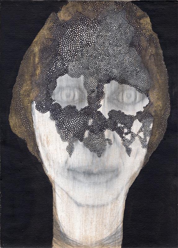 VELADA X, 2015. Tinta, acrílico y grafito sobre papel.