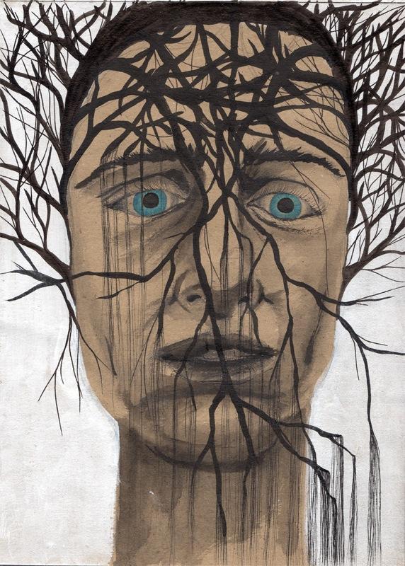 VELADA IX, 2015. Tinta, acrílico y grafito sobre papel.