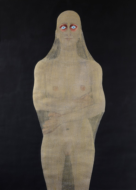 Guerrera III, 2017. Dibujo sobre papel técnica mixta, 109 x 79 cm